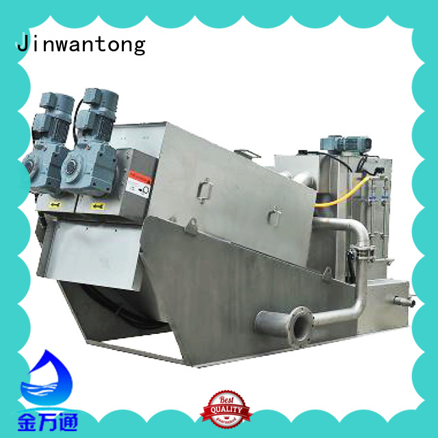 Jinwantong screw press dewatering with good price for resource recovery