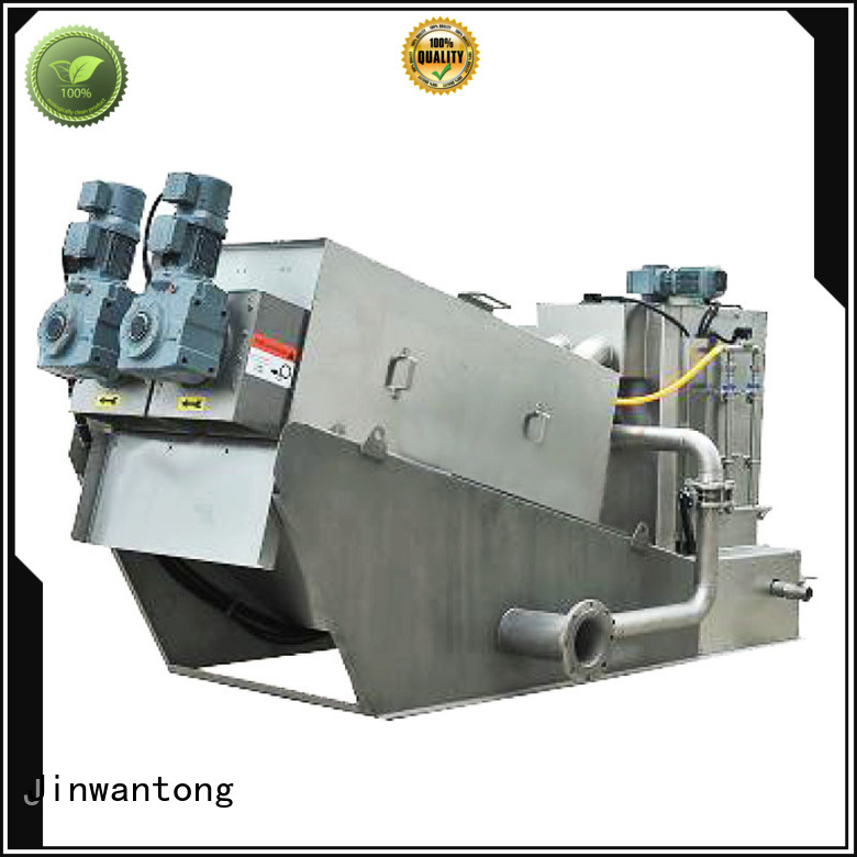 Jinwantong real sludge dewatering equipment from China for resource recovery