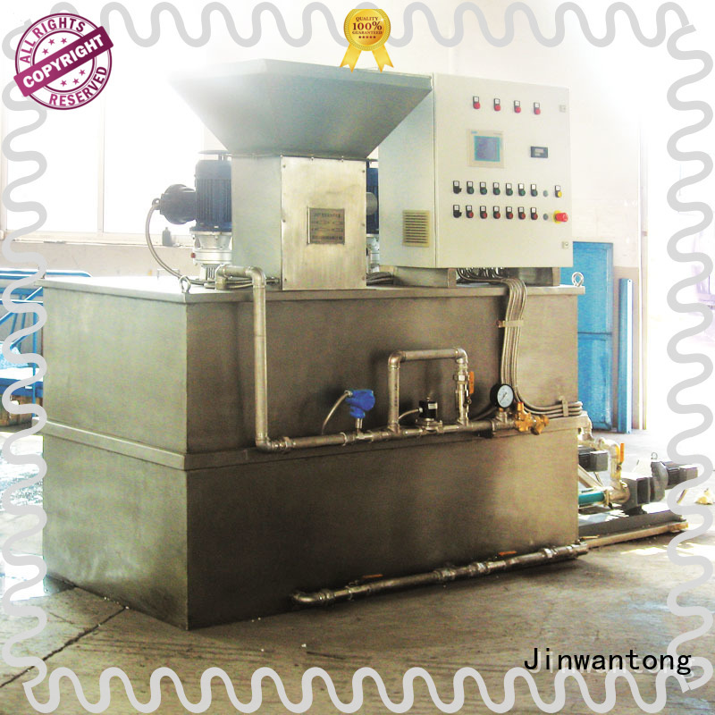 Jinwantong dosing equipment manufacturers with good price for mix water and chemicals