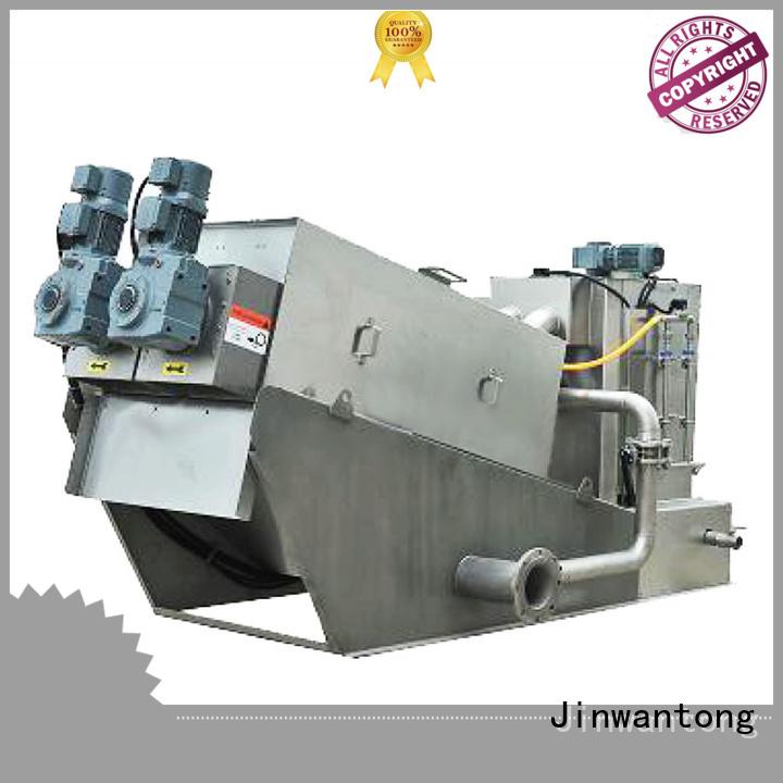 Jinwantong screw press dewatering manufacturer for solid-liquid separation