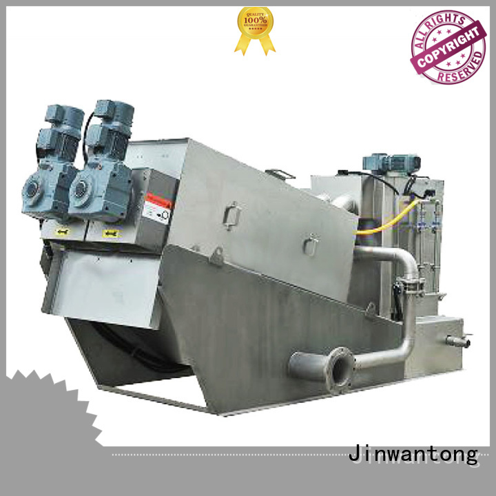 Jinwantong screw press dewatering manufacturer for solid-liquid separation