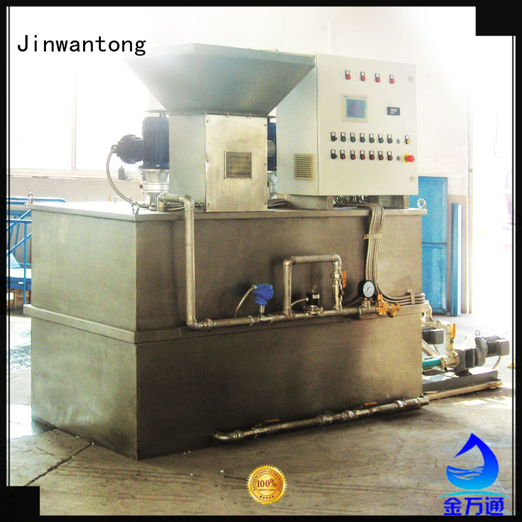 sewage treatment plant chemical dosing with good price for mix water and chemicals Jinwantong