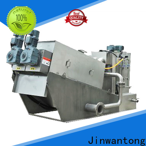 Jinwantong screw press dewatering machine with good price for wineries