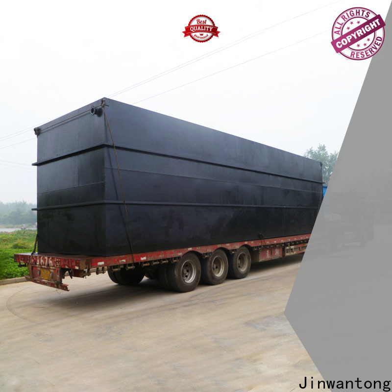 Jinwantong package sewage treatment plant suppliers company for hotel
