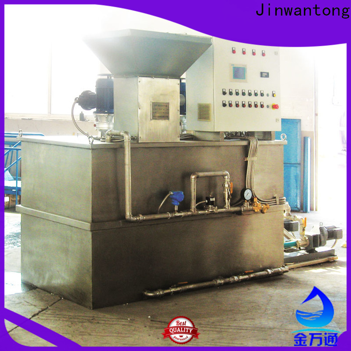 Jinwantong professional sewage treatment plant chemical dosing factory for powdered and liquid chemicals