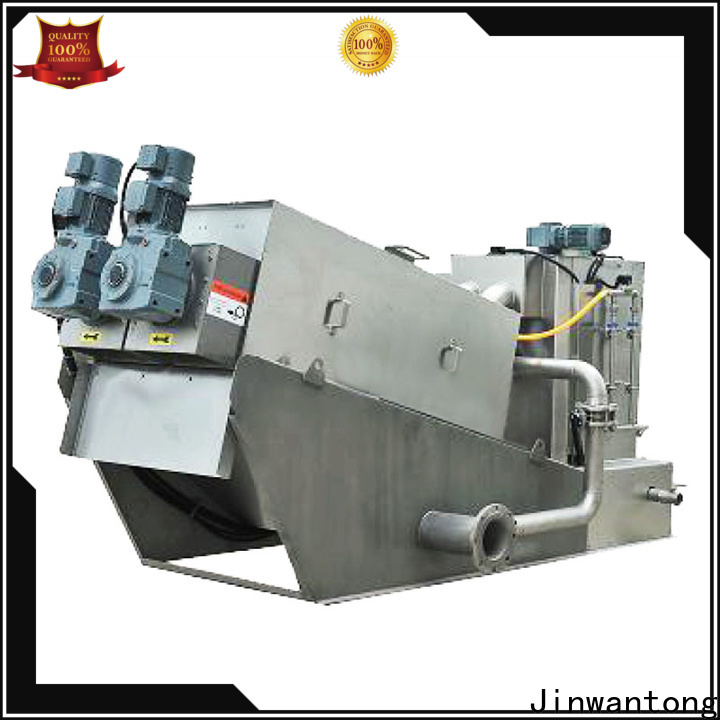 Jinwantong screw press dewatering machine with good price for resource recovery