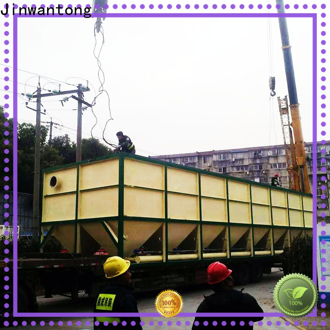 Jinwantong top inclined plate settler unit size calculation directly sale for heavy metal remove
