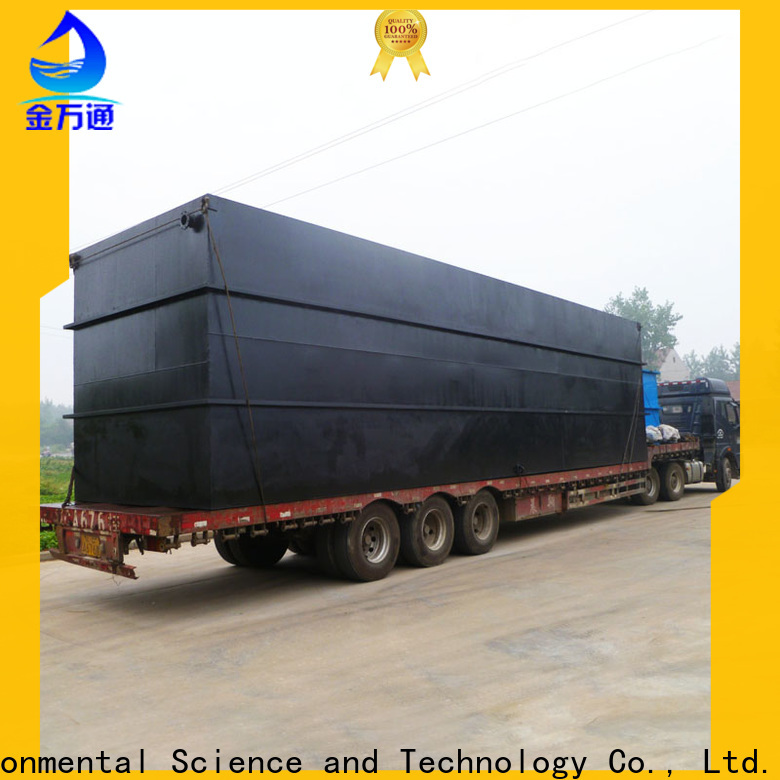 Jinwantong small package sewage treatment plant for business for oilfield labor camp