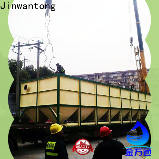 Jinwantong inclined plate settler unit size calculation customized for food industry
